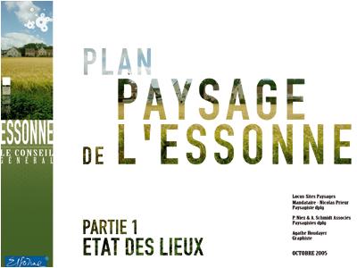 Plan paysage de l'Essonne
