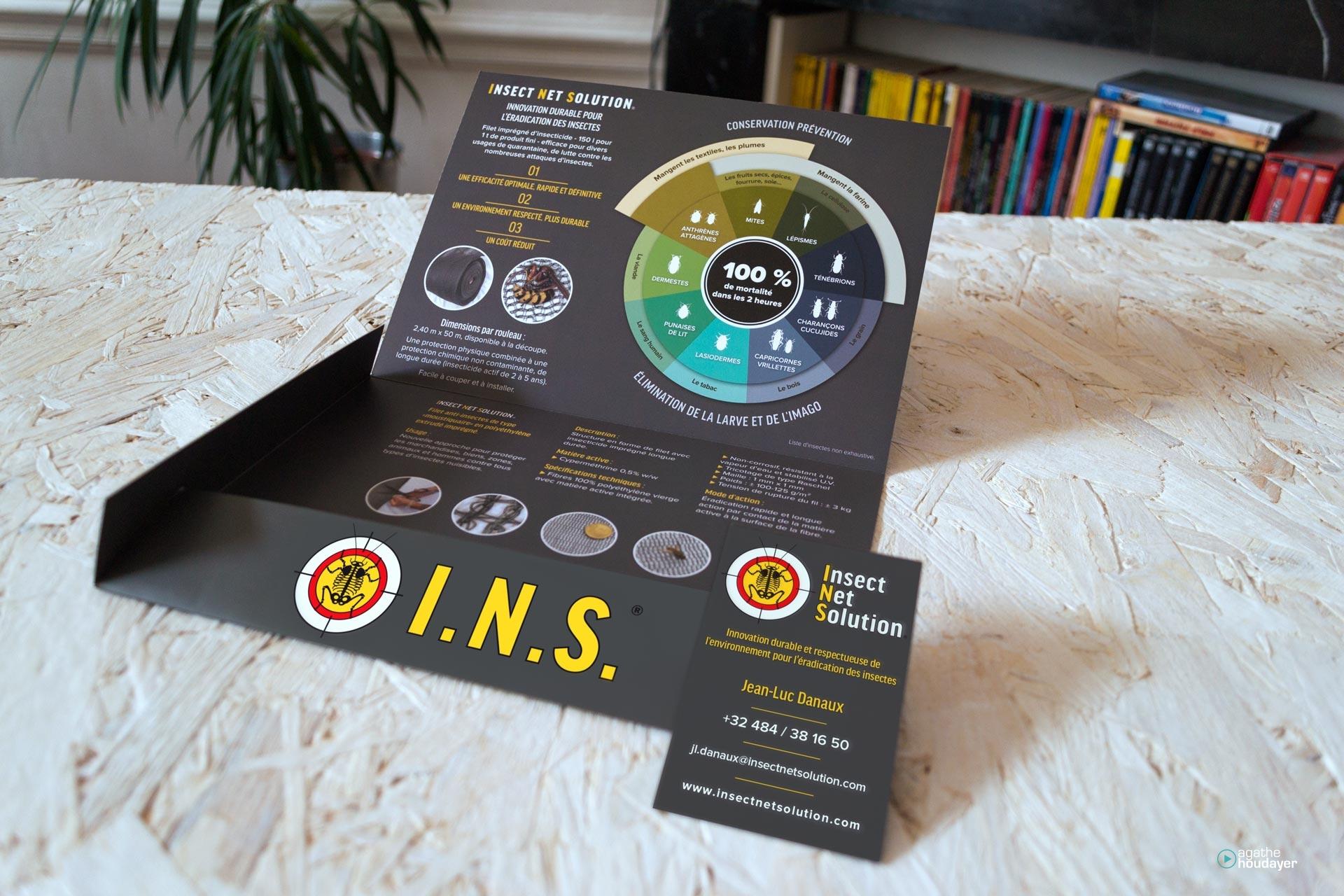 Intérieur plaquette-chemise A5 & carte de visite I.N.S.